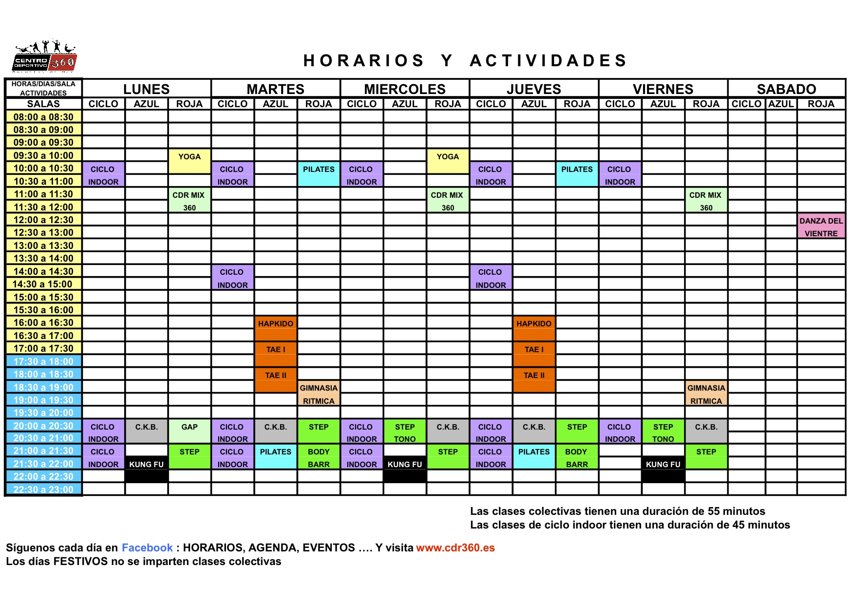 horario mayo GYM
